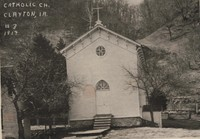 St. Mary's Catholic Church in Clayton, Iowa -1914