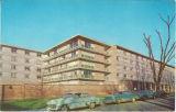 Postcard of northeast corner of Burge Hall, The University of Iowa, 1960s