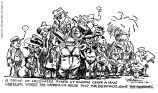 Convention sketches---Republican National Convention Chicago---June 1920.  (A group of delegates picked at random leave a man guessing where the impression arose that the plutocrats name the candidates.)