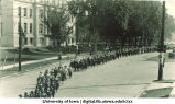 Inauguration procession, The University of Iowa, 1917