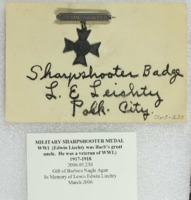 Sharpshooter Badge from World War I