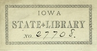 State Library of Iowa bookplate