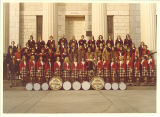 Scottish Highlanders in front of Old Capitol, The University of Iowa, 1973