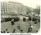 Commissioning ceremony for Naval Aviation Pre-Flight School, The University of Iowa, April 15, 1942