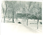 Old Capitol in winter facing west towards Iowa Avenue, The University of Iowa 1928