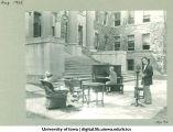 WSUI broadcast on Pentacrest, The University of Iowa, August 1925