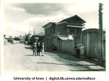 Village street in Red Dawn collective farm, Irkutsk region, Siberia, 1944