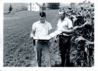 Ralph Kohlenberg and Lyle Jackson discussing soil inventory, 1967