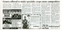 Grants offered to make specialty crops more competitive
