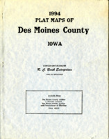 1994 Plat Maps of Des Moines County, Iowa with township plats corrected to July 18, 1994