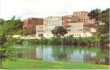 River view of Hillcrest Hall, the University of Iowa, 1960s?