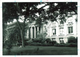 East side of MacBride Hall in summer, the University of Iowa, 1950s