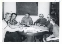 Jackson County SWCD governing body in session, 1966