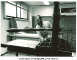 Kim Merker of Windhover Press, The University of Iowa, 1970s
