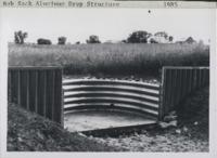 Bob Sack aluminum drop spillway structure.