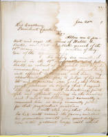 66. Iowa Gov. William M. Stone to Lincoln on appointment of Walter B. Scales as officer in African Corps