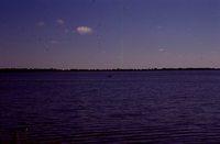Boater on Big Spirit Lake.
