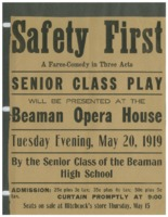 Poster for the Beaman Senior Class play