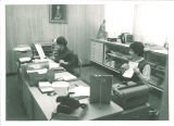 Office workers in Iowa Memorial Union, the University of Iowa, 1960s