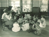 Children learning a song, The University of Iowa, 1920s