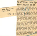 WAVES to hold qu here August 15-16