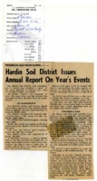 Hardin Soil District issues annual report on year's events.