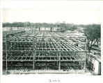 Main Library construction, the University of Iowa, btw 1949 and 1951
