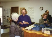 1996 - Violet Locke, Bruce Trautman, Terri Johnson, and Charles Nealey at open house