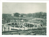 Theatre Building during construction, the University of Iowa, 1935