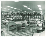 Periodicals reading area, the University of Iowa, April 1963