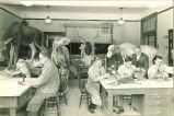 Taxidermy class, The University of Iowa, 1920s