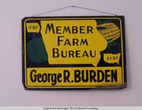 George R. Burden metal Farm Bureau sign