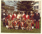 University of Iowa Scottish Highlanders on Pentacrest, April 16, 1977