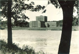 Theatre Building seen from east side of Iowa River, The University of Iowa, August 8, 1939