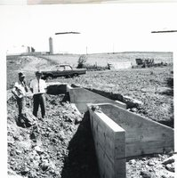 Concrete drop spillway after flood damage, 1967