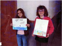 Conservation poster contest winners Sydney Stephens and Drucilla Stephens, 2008