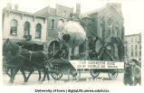Mecca Day parade float on Clinton Street, The University of Iowa, 1914