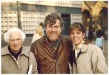 Louise Noun and Carol Rose with Georg, Berlin, Germany, November 1990