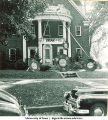 Delta Delta Delta fraternity house decorated for Homecoming, The University of Iowa, 1940s