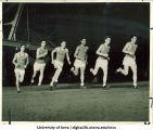 Athletes running quarter-mile race, The University of Iowa, March 3, 1922
