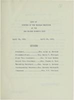 0129 Des Moines Women's Club Minutes 1954-1956