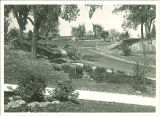 Road leading up to Children's Hospital, The University of Iowa, 1920s