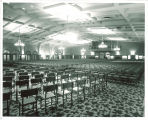 Iowa Memorial Union Main Lounge set up for a concert, the University of Iowa, 1950s?