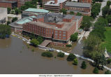 Aerial photographs of flooding around the Iowa Memorial Union, The University of Iowa, June 16, 2008