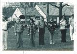 Scottish Highlanders bagpipe practice, The University of Iowa, 1974