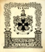 Josiah Beatie Moss and Mary Leach Moss Bookplate