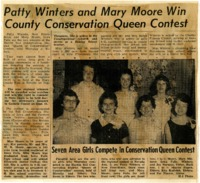 Patty Winters and Mary Moore wing county conservation queen contest.