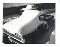 Snow covered truck, 1978