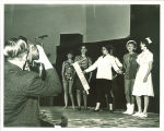 Photographing a musical in the Iowa Memorial Union, the University of Iowa, 1950s?