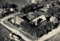 St. Joseph's Catholic Church in Garnavillo, Iowa -1941 Aerial view